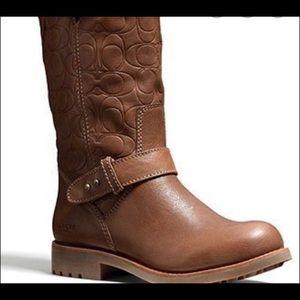 Virginia brown coach boot